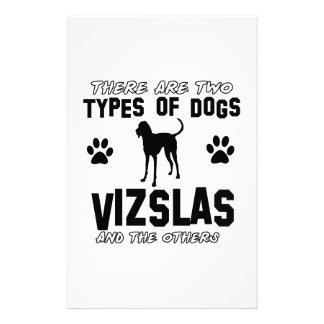 Vizsla dog Designs Stationery