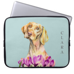 Neoprene Laptop Sleeve 15' with Vizsla Phone Cases design