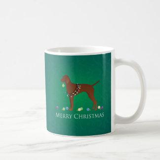 Vizsla Dog Merry Christmas Design Coffee Mug