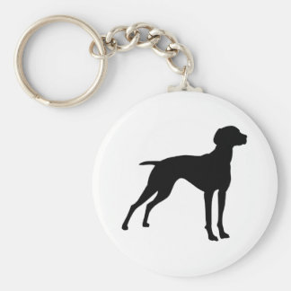 Vizsla Dog Silhouette (black) Keychain