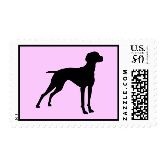 Vizsla Dog Silhouette (black) Postage