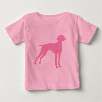 Vizsla Dog Silhouette (pink) Tee Shirt