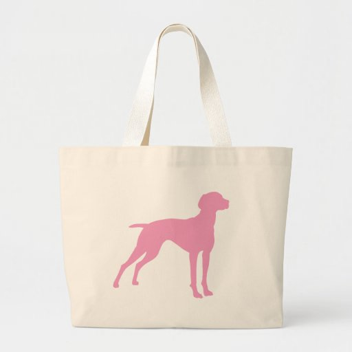 Vizsla Dog Silhouette (pink) Tote Bags