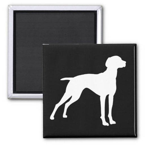 Vizsla Dog Silhouette (white) t-shirts & gifts Magnet