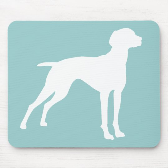 Vizsla Dog Silhouette (white) t-shirts & gifts Mouse Pad