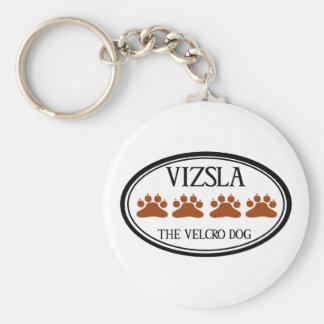 Vizsla el llavero del perro del Velcro