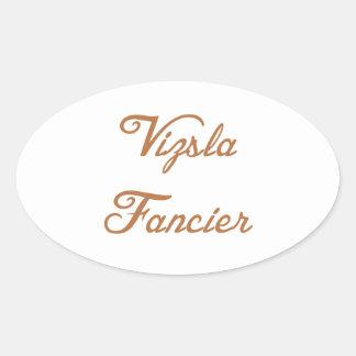 vizsla fancier.png oval sticker
