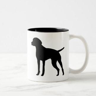 Vizsla gear Two-Tone coffee mug