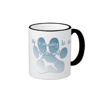 Vizsla Granddog Ringer Coffee Mug