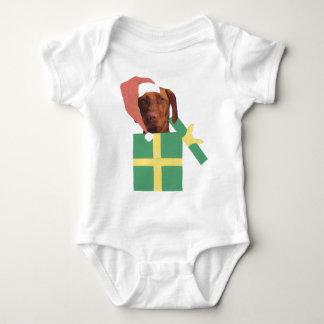 Vizsla Green Gift Box Baby Bodysuit