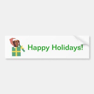 Vizsla Green Gift Box Bumper Sticker
