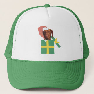 Vizsla Green Gift Box Trucker Hat