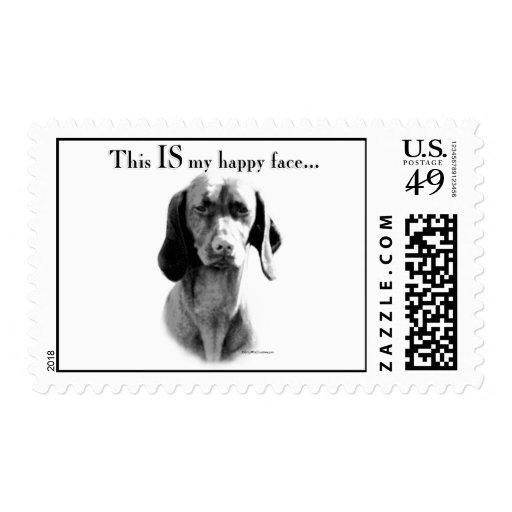 Vizsla Happy Face Stamp