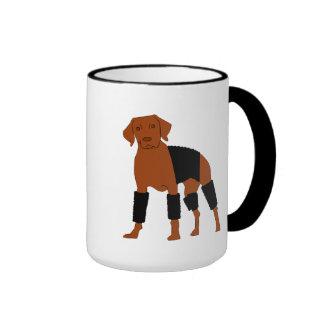 Vizsla la taza del perro del Velcro