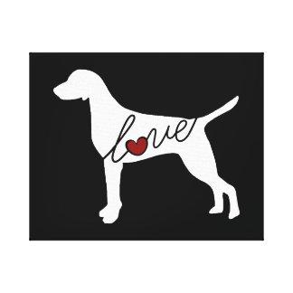 Vizsla Love Canvas Print