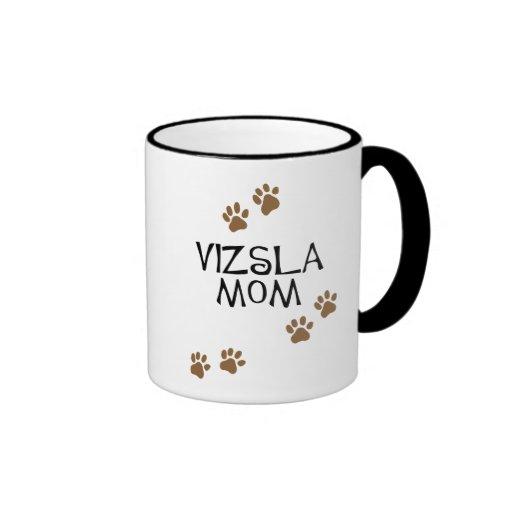 Vizsla Mom Ringer Coffee Mug