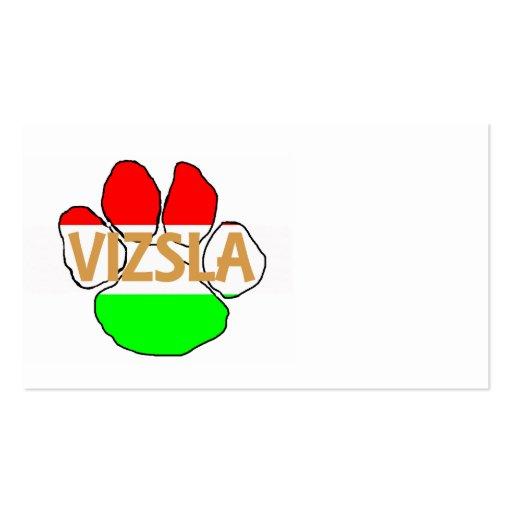 vizsla name Hungary-Flag paw.png Business Cards