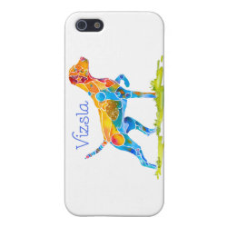 Case Savvy iPhone 5 Matte Finish Case with Vizsla Phone Cases design