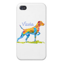 Case Savvy iPhone 4 Matte Finish Case with Vizsla Phone Cases design
