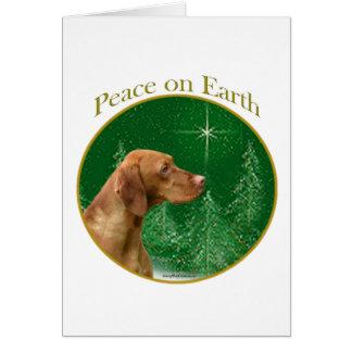 Vizsla Peace Card