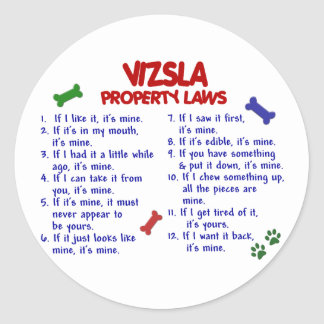 VIZSLA Property Laws 2 Round Sticker