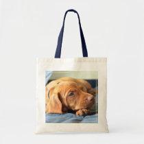 Vizsla Puppy Resting On Its Paw Tote Bag