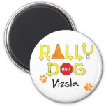 Vizsla Rally Dog Magnet
