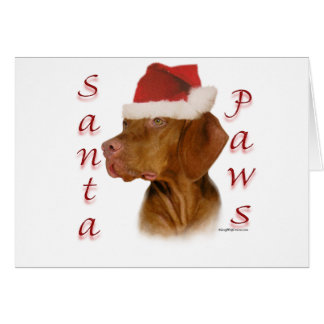 Vizsla Santa Paws Greeting Card