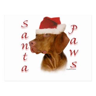 Vizsla Santa Paws Postcard