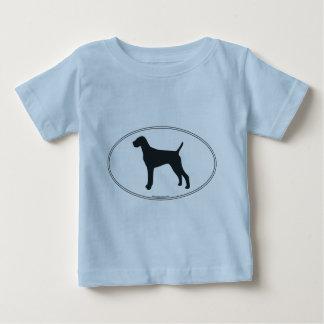 Vizsla Silhouette Baby T-Shirt