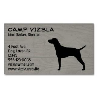 Vizsla Silhouette Magnetic Business Card