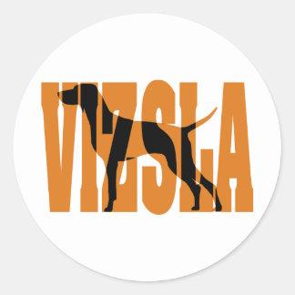 Vizsla Silhouette, Show Stack Classic Round Sticker