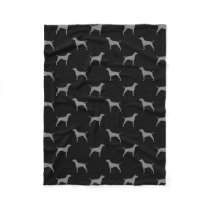 Vizsla Silhouettes Pattern Fleece Blanket