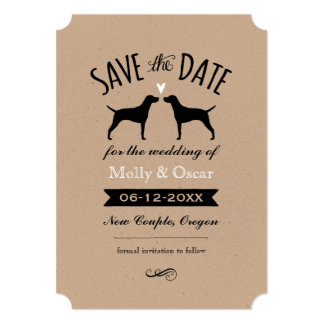 Vizsla Silhouettes Wedding Save the Date Card