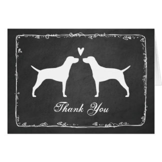 Vizsla Silhouettes Wedding Thank You Card