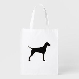 Vizsla silo black.png reusable grocery bag