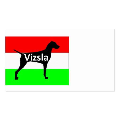 vizsla silo name on Hungary-Flag.png Business Card Template