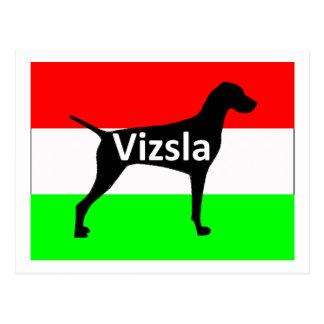 vizsla silo name on Hungary-Flag.png Postcard