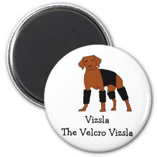 Vizsla The Velcro Dog 2 Inch Round Magnet
