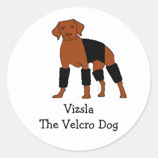 Vizsla The Velcro Dog Classic Round Sticker