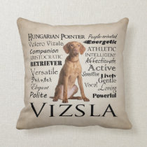 Vizsla Traits Pillow