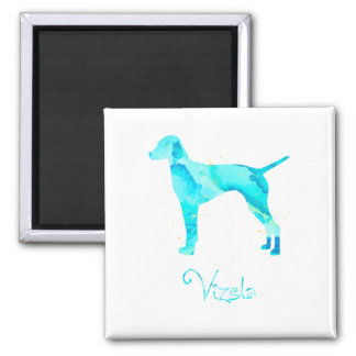 Vizsla Watercolor Design 2 Inch Square Magnet