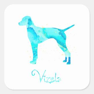 Vizsla Watercolor Design Square Sticker