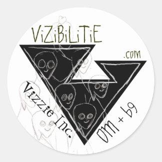 Vizzie Inc. - Flying Saucer round Sticker