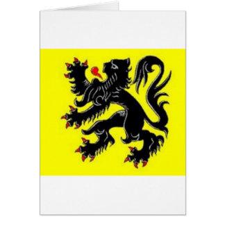vlaamse leeuw greeting card