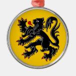 Vlaanderen (Flanders) Round Metal Christmas Ornament