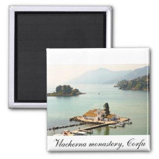 Vlacherna monastery 2 inch square magnet