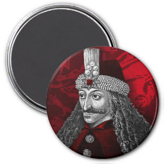 Vlad Dracula Gothic 3 Inch Round Magnet
