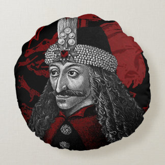 Vlad Dracula Gothic Round Pillow