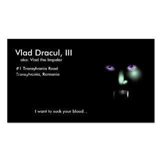 Vlad Dracul's business card
